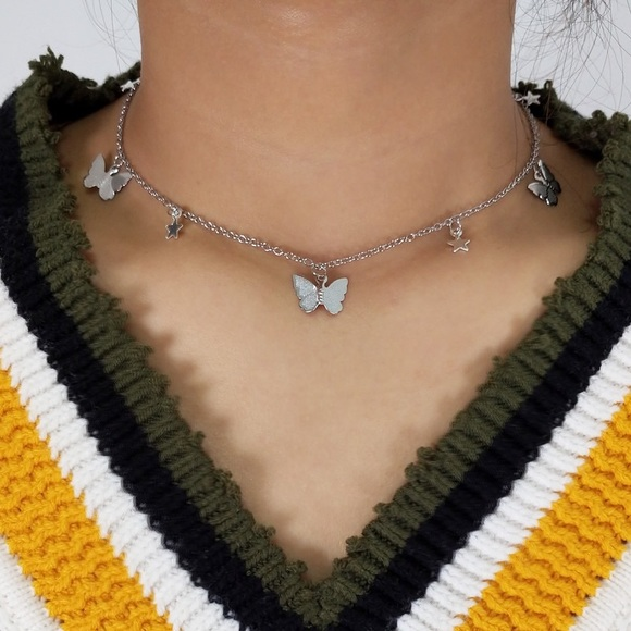 Urban Outfitters Jewelry - 3/$30 🦋 Butterfly Star Choker Necklace